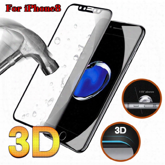For Iphone X 8 Tempered Glass Screen Protector For Iphone 7 6 6s Plus Full Cover 9h Hardness Carbon Fiber Anti-shatter Screen Protectors