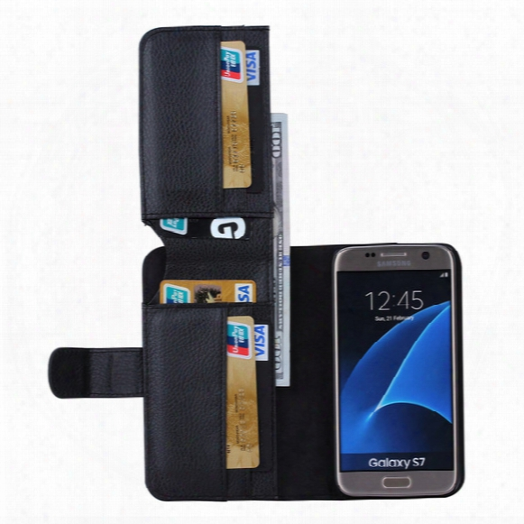 For Samsung S7 Galaxy S7 Edge Wallet Leather Case Multifunctional 7 Card Slot Flip Stand Photo Frame Phone Cover Shell