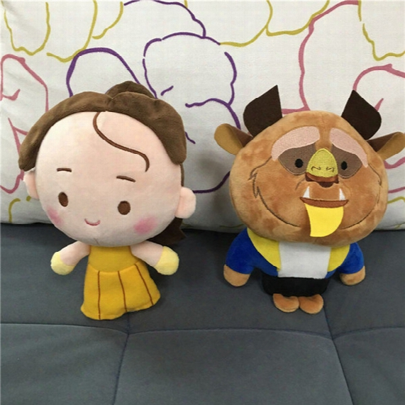 Free Ems 8 Inch 2017 New Movies Beauty And The Beast Plush Dolls 20cm Children Cartoon Belle Princess Plush Dolls Toys B