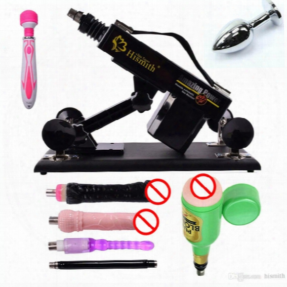 Hismith Automatic Sex Machine Gun With Dildo Automatic Sexual Intercourse Machine For Men And Women Free Gift Vibrator And Anal Plug