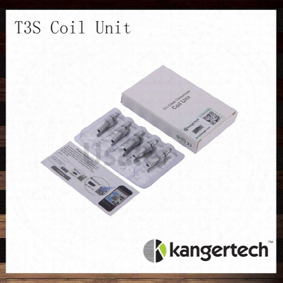 Kanger T3s Coil Unit Kangertech T3s Cc Clear Cartomizer Replacement Coils Head 1.5 1.8 2.2 2.5 Ohm Coils For T3s Atomizer 100% Original