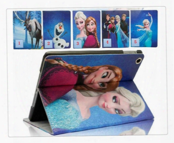 Leather Case Boy&girl Cute Cartoon Design Pu Leather Case Cover For Ipad2 Ipad3 Case