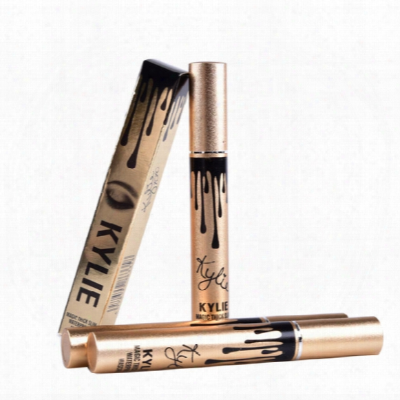 Leo Kylie Birthday Edition Thick Waterproof Mascara Kylie Black Eye Mascara Long Eyelash Cosmetics Makup Black Lash Dhl Free Shipping Mr224