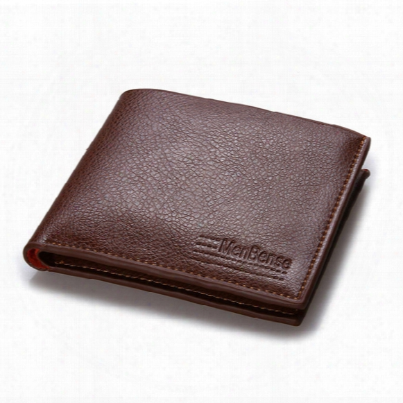 Male Pu Leather Luxury Wallet Casual Short Designer Card Holder Pocket Fashion Purse Wallets For Men Free Shipping