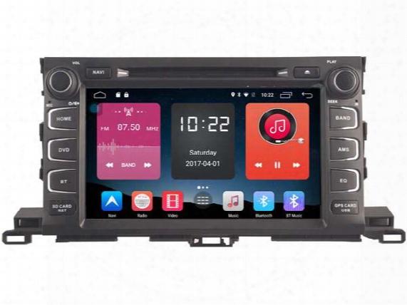 Navirider 4g Lite 2gb Ram Android 6.0 Car Dvd Player Autoradio Stereo Gps Tape Recorder For Toyota Highlander 2015 2016 Dvr Head Units