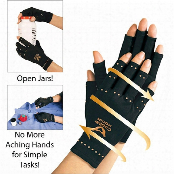 New Arthritis Compression Gloves Copper Hands Gloves Womej Men Health Care Half Finger Ache Pain Rheumatoid Therapy Sports Gloves Px-g01