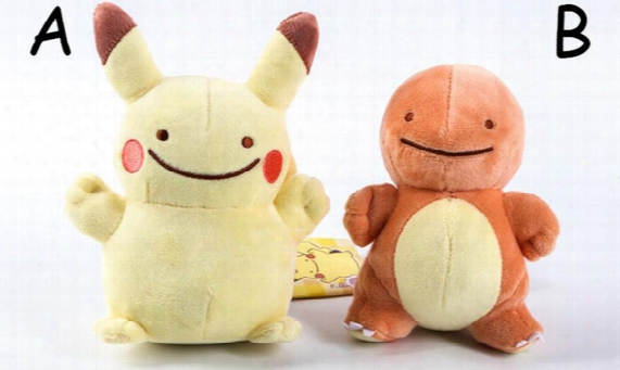 Poke Figures Plush Dolls Toys 12-18cm 5 Style Children Cartoon Pikachu Squirtle Charmander Poke Ball Sylveon Plush Dolls Toy