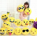 15cm Soft Emoji Smiley Emoticon Yellow Round Car Mini Cushion Pillow Stuffed Plush Toy Doll Christmas Present Keychain Pendant EMS FREE