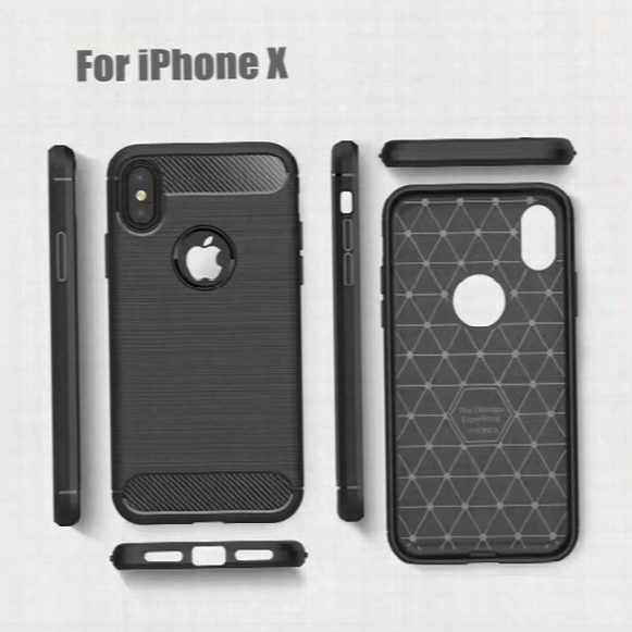 Tpu Back Cover Phone Case For Iphone X 7 7 Plus Iphone 6 5 Se Phone Cases Carbon Fibre Drawing Brushed Tpu Case