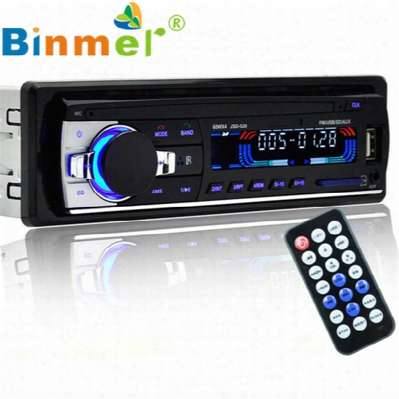 Wholesale- Bluetooth Car Stereo Audio In-dash Fm Aux Input Receiver Sd Usb Mp3 Radio Remote Control Handsfree Car Mp3 Audio Player N1213