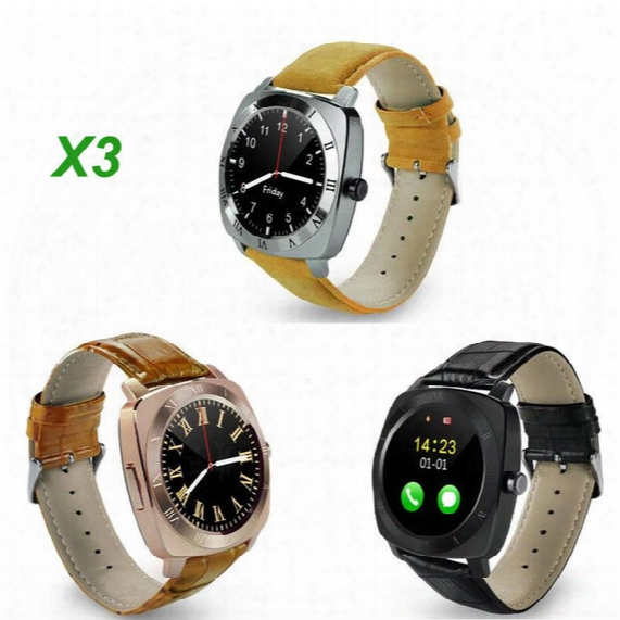 X3 2g Smartwatch Phone 1.33 Inch Mtk6261 Pedometer Sleep Monitor Sedentary Reminder Support Sim Tf Card 1.3mp Camera Free Dhl