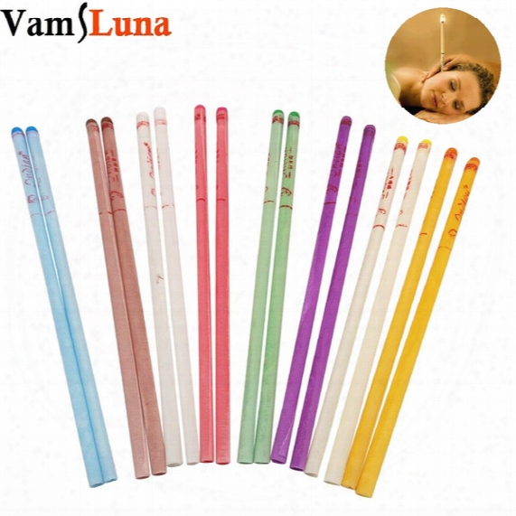100x Natural Ear Candle Pure Bee Wax Thermo Auricular Therapy Straight Style Indiana Fragrance Candling Cylinder For Ear Care