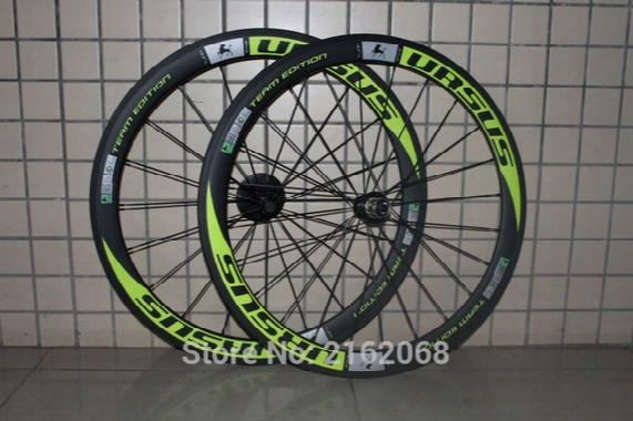 1pair Newest Ursus Green 700c 50mm Clincher Or Tubular Rims Road Bike Matte 3k Ud 12k Full Carbon Fibre Bicycle Wheelsets Light Parts
