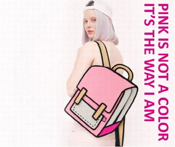 2016 4 Colors Gismo Cartoon Bag Fashion 3d Jump Style 2d Drawing Cartoon 3d Shoulder Messenger Bag Camera Bag Unisex Backpack 6 Pcs 1795