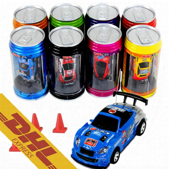 48pcs/lot Mini Rc Racing Car 1:64 Coke Zip-top Pop-top Can 4ch Radio Remote Control Vehicle 9803 Led Light 8 Colors Toys For Kids Xmas Gift