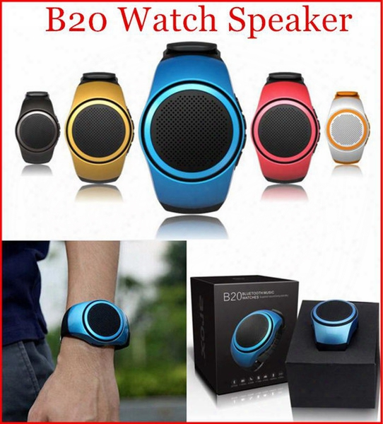 B20 Mini Bluetooth Speaker Sport Watch Player Hands Free Smart Watches Speakers For Mobile Phone Tf Cards
