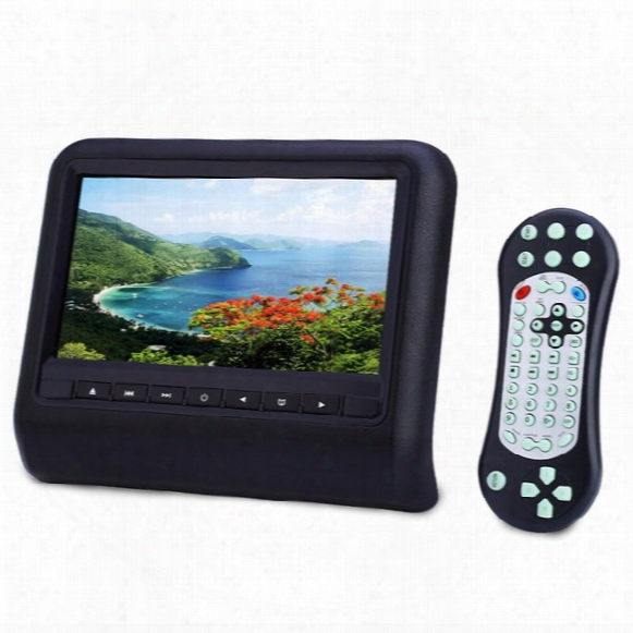 Car Dvd 9.0 Inch Car Pillow Dvd Player Dual Headrest Full Hd 800 X 480 Lcd Screen Disc Usb Sd Car Multimedia Player