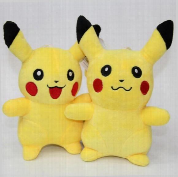 Ems Pikachu Plush Dolls 23cm(9inch) Poke Plush Toys Cartoon Poke Stuffed Animals Toys Soft Christmas Toys Best Gifts
