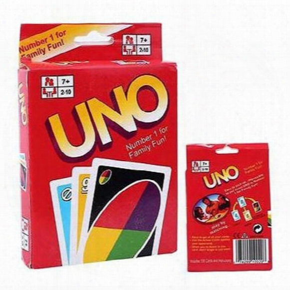 Family Funny Entertainment Board Game Uno Fun Poker Playing Cards Puzzle Games Standard Uno Card Dhl Free