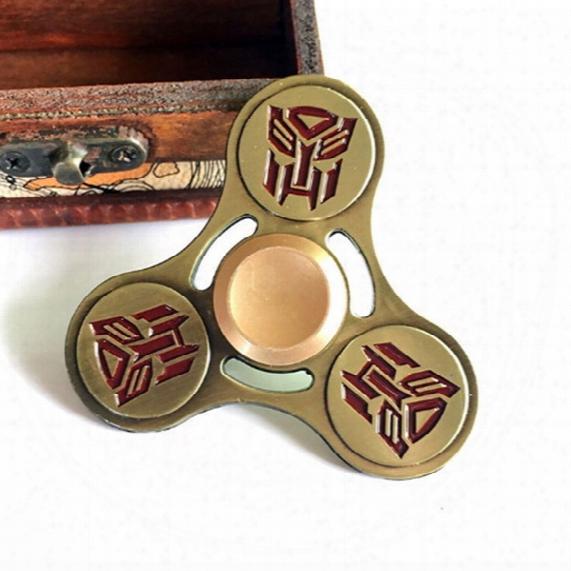 Handspinner Edc Transformer Autobots Hand Spinner Fidget Finger Triangle Gyro Toys Novelty Gag Torqbar Adults Children Educational Gift