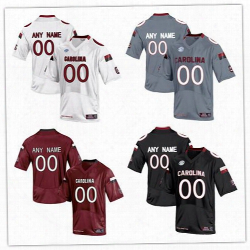 Mens South Carolina Gamecocks College Football Custom #5 7 14 19 White Black Red Limited Stitched Personalized Any Name Number Jerseys S-3xl
