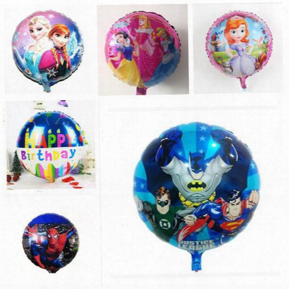 Mickey Balloon Superhero Cartoon Helium Foil Balloons Spiderman Toy Ballons For Kids Birthday Wedding Party Decoration Balloon 45*45cm