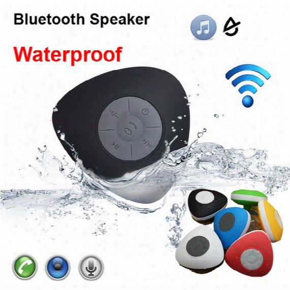 Newest Arrival Waterproof Bluetooth Speaker V2.1 Triangle Heart Shape Suction Chalice Shower Car Bathroom Handsfree Call Portable Phone Speaker