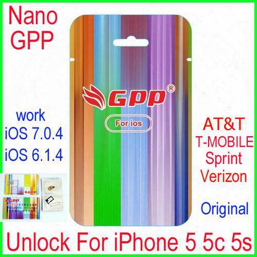Newest L1s3 Chip Gpp Turbo Nano Sim Card Unlock For Iphone5 5s 5c Ios7 Ios6 7.0.4 7.x Cdma Gsm At&t T-mobile Sprint Verizon Netell Digitel