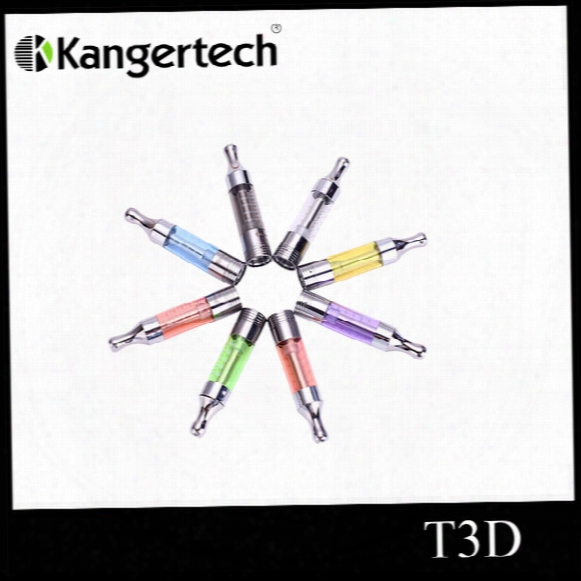 Original Kangertech T3d Clearomizer Kanger T3d Colorful Cartomizer Kanger T3d Atomizer With Changeable Rebuidable Dual Coils