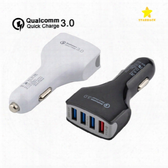 Qc3.0 Car Charger 4usb Quick Charger 4 Ports Car Charger Adapter For Iphone 7 Samsung With Retail Package