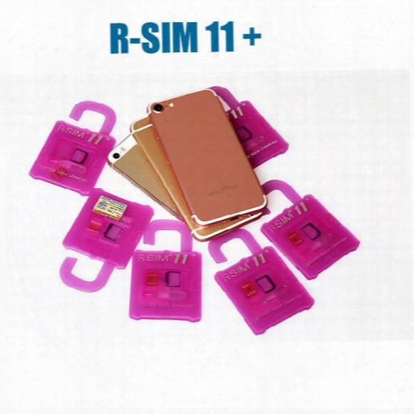 R Sim 11+ Rsim11 Plus R Sim11+ Rsim 11 Unlock Card For Iphone7 Iphone 5 5s 6 6plus Ios7 8 9 10 Ios7-10.x Cdma Gsm Wcdma Sb Sprint Lte 4g 3g