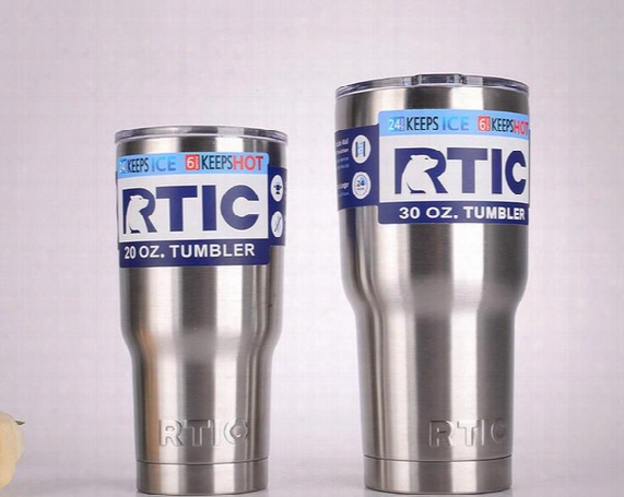 Rtic Tumbler 30 Oz 20oz Rtic Cups Cars Beer Mug Large Capacity Mugs With Vacuum Double Wall Keep Cool Or Hot
