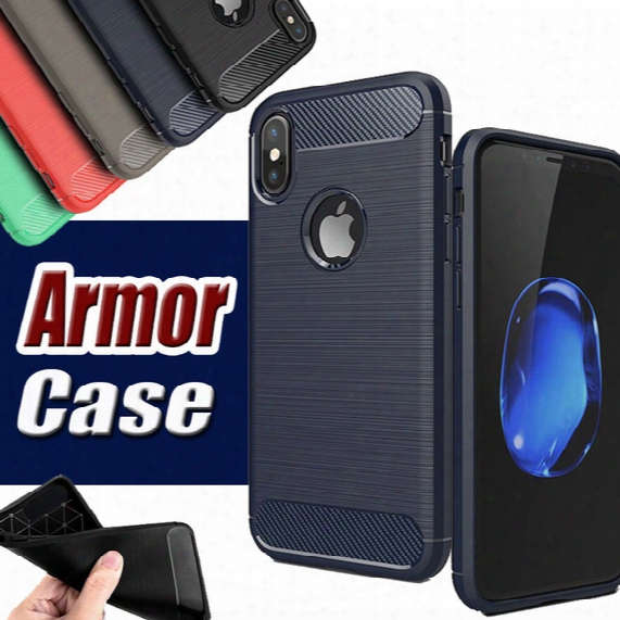 Rugged Armor Hybrid Carbon Fiber Shockproof The Ultimate Experience Anti Shock Hard Cover Case For Iphone X 8 7 Plus 6s 5s Samsung S8 Note 8