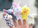 1000pcs/lot DHL Fedex EMS Free Shipping Cute Cartoon Biological Animal Finger Puppet Plush Toys Child Baby Favor Dolls PNLO