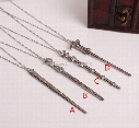 Hermione Harry James Potter Keychain Harry Potter Alloy magic wand Pendant Voldemort Dumbledore necklace Free shipping E1477