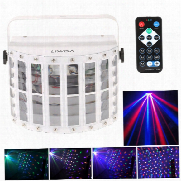 Us In Stock 6 Channel Rgbw Dmx512 Stage Lighting Effect Voice-activated Automatic Control Led Laser Projector Dj Home Ktv Disco L0142