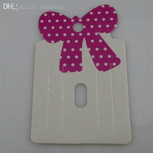 Wholesale-free Shipping ( 600 Pieces/lot) Hot Charm Bowknot Bow Hair Clip Hair Claws Hairgrips Hanging Card Display
