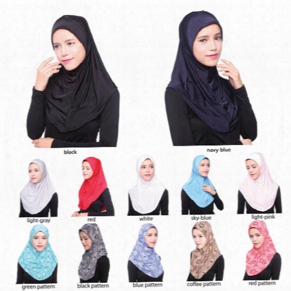 Wholesale New Arrival Hijab Scarves Muslim Head Scarf Arab Islamic Head Wear Hat Women's Shawls Headband 12 Colors
