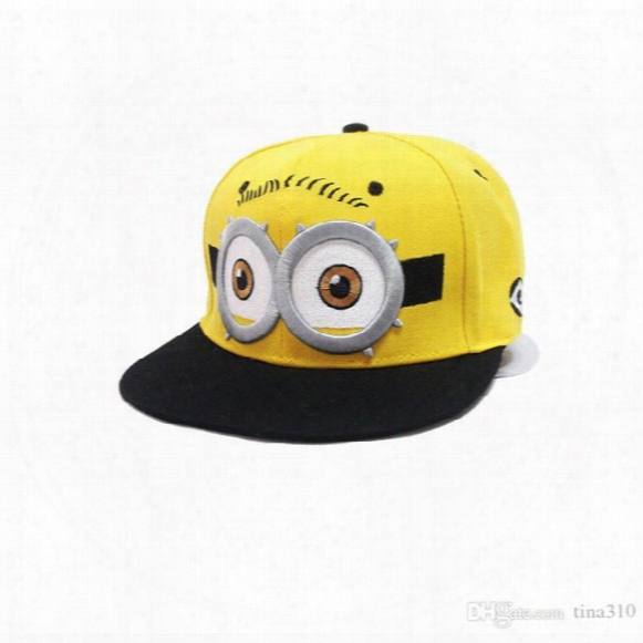 Wholesale- New Fashion Parents And Baby Fashion Autumn Baseball Hiphop Cap Cartoon Small Yellow Hat Lovely Casual A0288