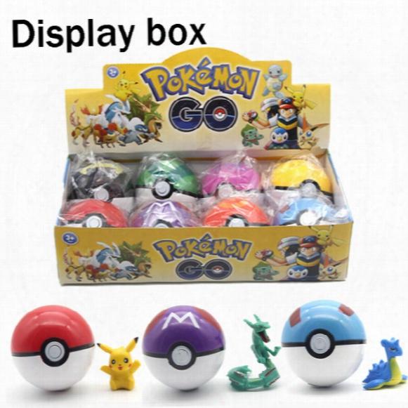 Zorn Toys-poke Pokã©mon Go Plastic Poke Ball+action Figure Doll 7cm Greate Ball/ultra Ball/master Ball/ 8 Style Pikachu Wholesale 2016