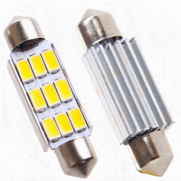 100pcs 42mm 9smd 5630 5730 Smd C5wc10w Canbus Error Free Car Festoon Dome Lights Reading Lamps Bulbs 12v Wholesale