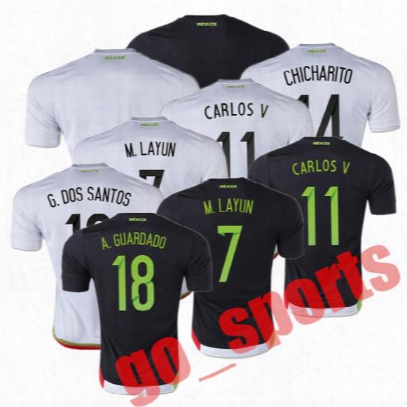 2016 Century American Cup Mexico Away 3rd Soccer Jerseys Best Quality Chicharito G.dos Santos M.layun Carlos V A.guardado Soccer Jersey