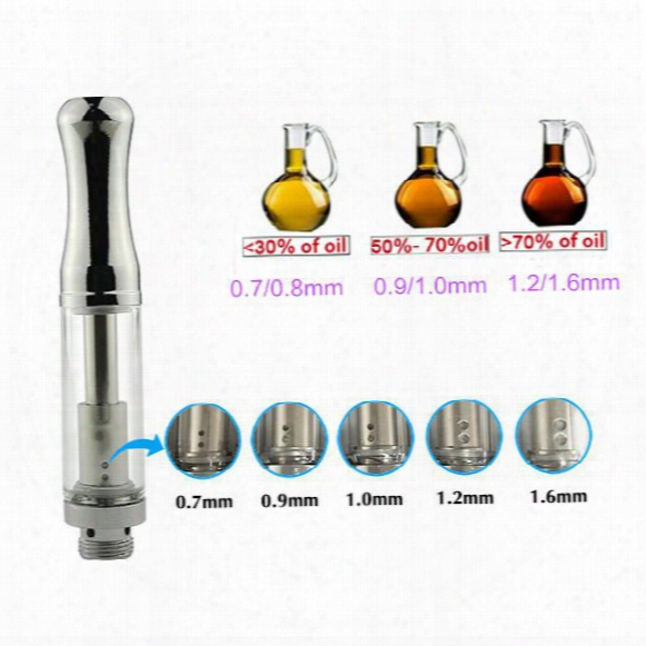 2017 Dual Coil Thick Glass Tank Cartridge Bud Open Atomizer .5/1.ml 510 Thread Glass Tank Vaporizers E Cigar Free Shipping -02