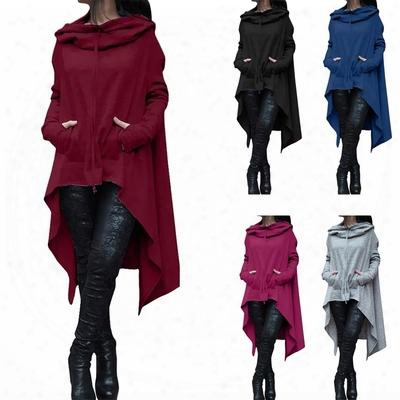 2017 New Women Pockets Long Hoodie Winter Spring Hoodies Scarf Collar Long Sleeve Fashion Casual Style Autumn Sweatshirts