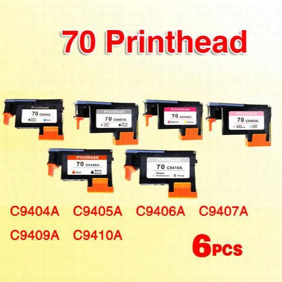 6x Printhead Compatible For Hp70 For Hp 70 Designjet Z2100 Z5200 Z3100 Z3200 Photosmart Pro B9180