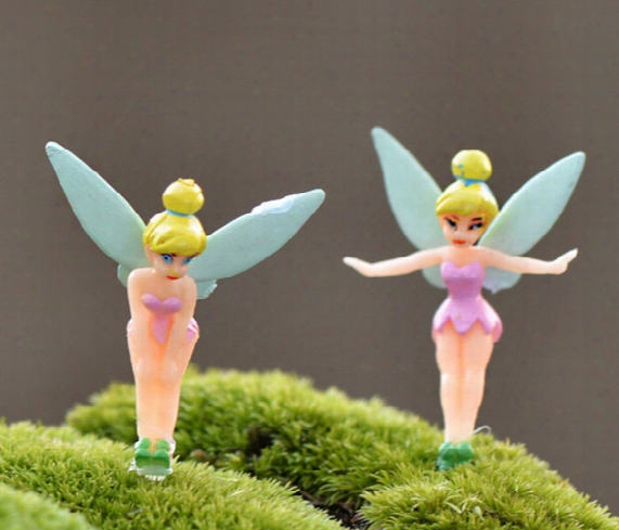 90pcs Dhl Free Cartoon Fairy Figurines Fairy Garden Miniatures Gnomes Pixie Dust Princess Miniature Fairy Figurine Mini Garden Resin Craft