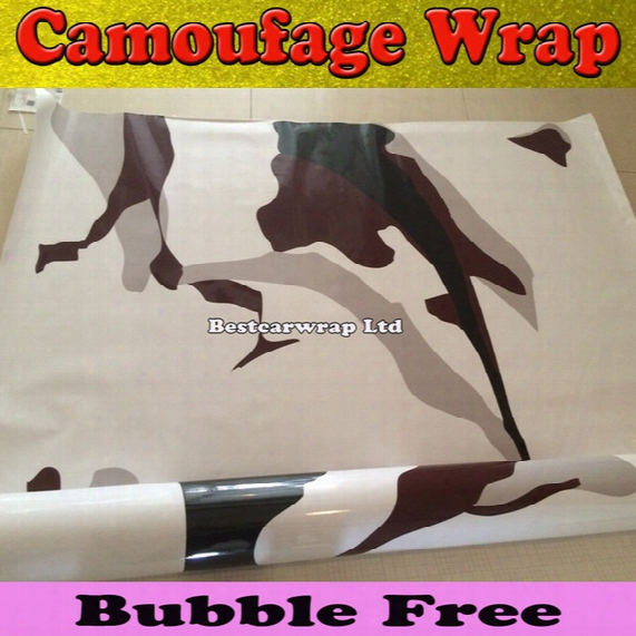 Black White Camo Vinyl Wrap Full Car Wrap Acrtic Winter Camouflage Vinyl Wraps Film Black & Grey White Size 1.52 X 30m/roll Free Shipping