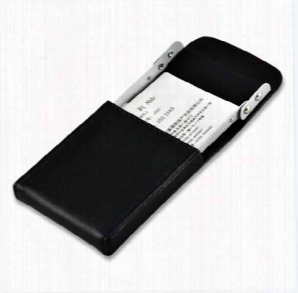 Business Card Case Holder Genuine Leather Name Card Holder With Delicate Storage Bag For Men Women
