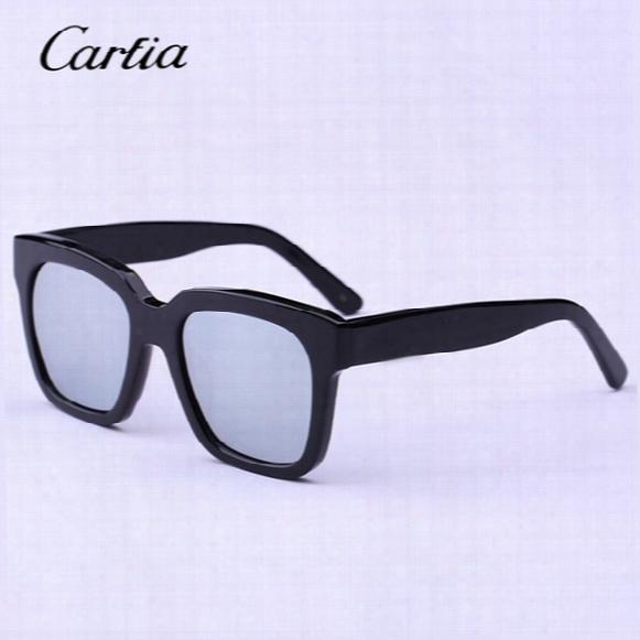 Carfia Fashion Polarized Sunglasses Square Frame The Dreamer Sunglasses Vintage Handmade Men Women The Luxury Brand Designer 60mm Sunglasses