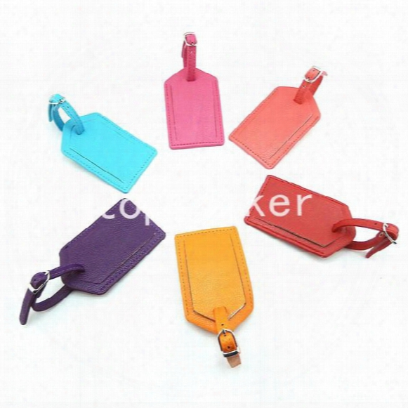 Colorful 10*6.5cm Pu Bags Luggage Tag Travel Cards Finaning Travel Bag Finaning Faux Leather Luggage Tag